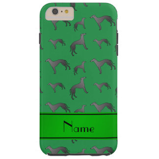 Personalized name green Greyhound dogs Tough iPhone 6 Plus Case