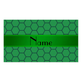 Personalized name green honeycomb Double-Sided standard business cards (Pack of 100)