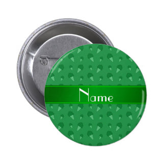 Personalized name green ice cream pattern 2 inch round button