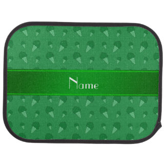 Personalized name green ice cream pattern car floor mat