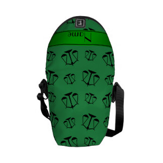 Personalized name green justice scales messenger bags