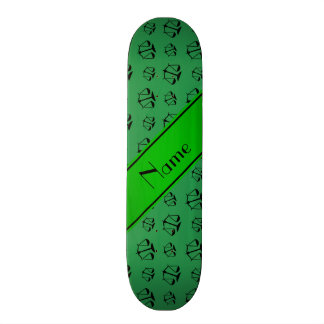 Personalized name green justice scales skate board deck