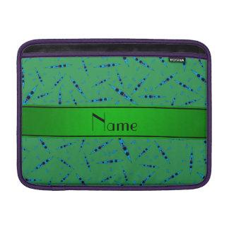 Personalized name green kayaks MacBook air sleeve