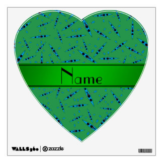 Personalized name green kayaks room graphic