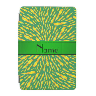 Personalized name green lightning bolts iPad mini cover