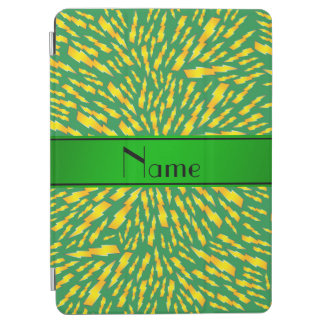 Personalized name green lightning bolts iPad air cover