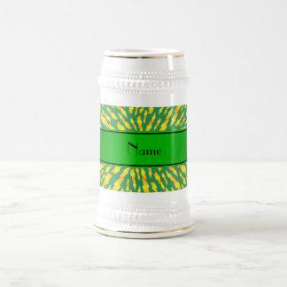Personalized name green lightning bolts mug