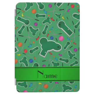Personalized name green mini golf iPad air cover