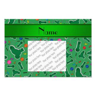 Personalized name green mini golf photo art