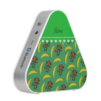 Personalized name green monkey bananas speaker