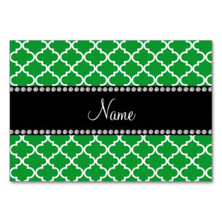 Personalized name Green moroccan Card