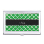Personalized name Green moroccan Business Card Case