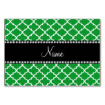 Personalized name Green moroccan Table Cards