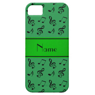 Personalized name green music notes iPhone 5 covers