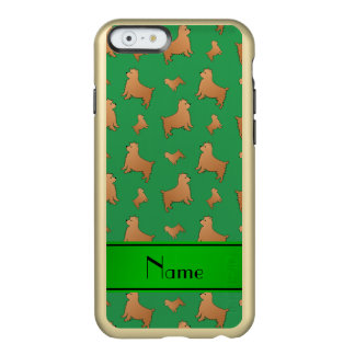 Personalized name green Norwich Terrier dogs Incipio Feather® Shine iPhone 6 Case
