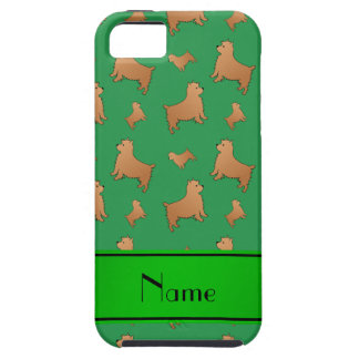 Personalized name green Norwich Terrier dogs iPhone 5 Cover