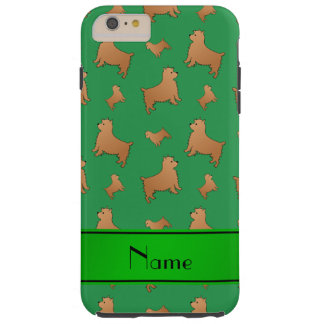 Personalized name green Norwich Terrier dogs Tough iPhone 6 Plus Case