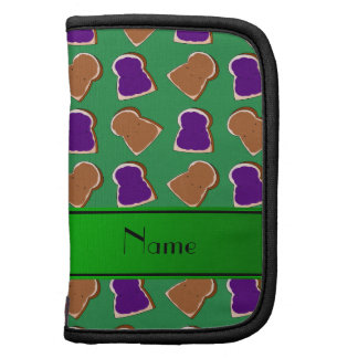 Personalized name green peanut butter jelly planner