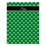 Personalized name green pearls customized letterhead