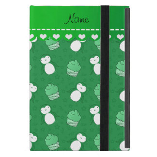 Personalized name green penguins cupcakes stars case for iPad mini