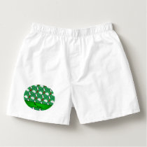 Personalized name green penguins igloo fish squid boxers