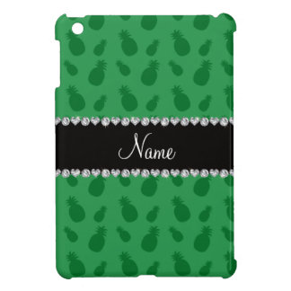 Personalized name green pineapple pattern cover for the iPad mini