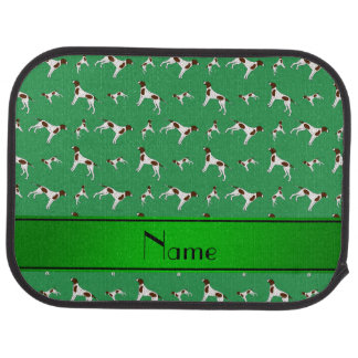 Personalized name green Pointer dogs Car Mat