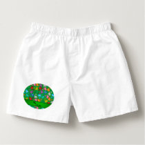Personalized name green rainbow dolphins boxers