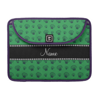 Personalized name green shells sleeve for MacBook pro