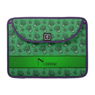 Personalized name green sugar skulls sleeves for MacBooks