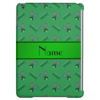 Personalized name green tennis rackets and nets iPad air covers