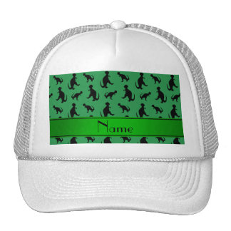 Personalized name green trex dinosaurs trucker hat