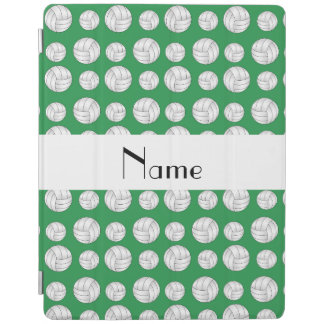 Personalized name green volleyball balls iPad cover