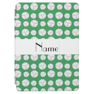 Personalized name green volleyball balls iPad air cover
