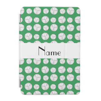 Personalized name green volleyball balls iPad mini cover
