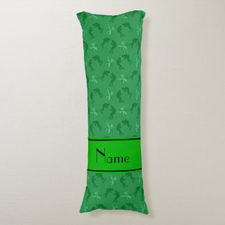 Personalized name green wrestlers body pillow