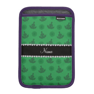 Personalized name green yoga pattern sleeve for iPad mini