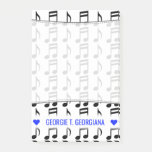 [ Thumbnail: Personalized Name; Grid of Musical Notes Notes ]