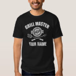personalized name grill master shirt