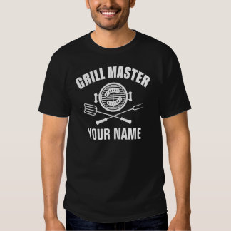 personalized name grill master t-shirts