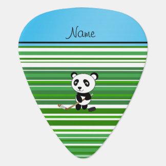 Personalized name hockey panda green stripes pick