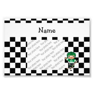 Personalized name hockey player checkers photographic print