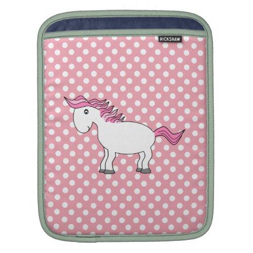 Personalized name horse iPad sleeve