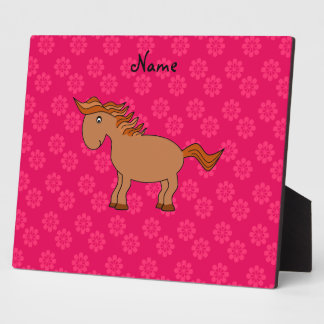 Personalized name horse plaque