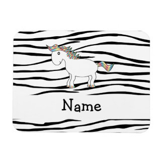 Personalized name horse zebra stripes flexible magnets