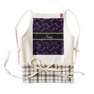 Personalized name indigo purple glitter high heels zazzle HEART apron