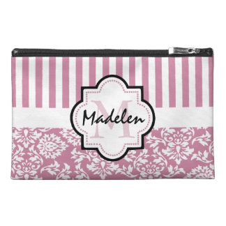 Personalized name initial chic monogram travel accessory bag