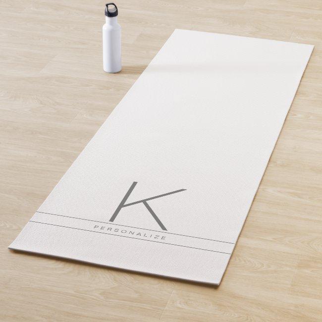 Personalized Name Initial Custom Yoga Mat