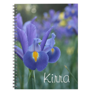 Personalized name Iris Gift Notebook