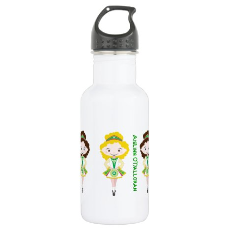 Personalized name irish dancer dancing troupe stainless steel water bottle